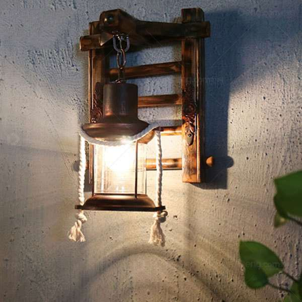 Iron Art,Bamboo Art Living Room,Study/ Bedroom,Restaurant,Corridor/ Aisle/ Entrance,Balcony,Stairs/ Corner Hand-woven Pastoral Wall Lamp, Single Head