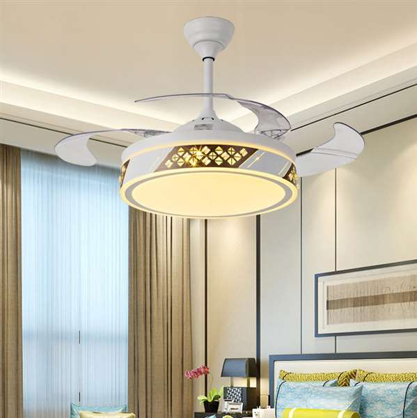 Iron Art,Copper,PVC,Crystal Living Room,Study/ Bedroom,Restaurant Modern Minimalist Fan Light,1 Lights