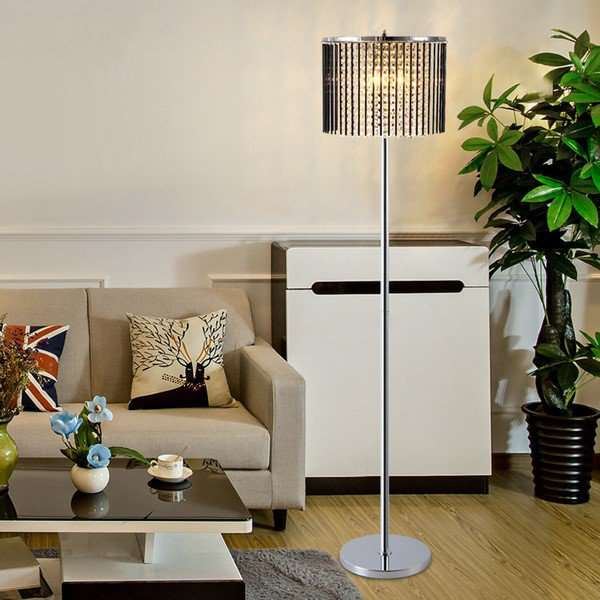 Iron Art,Glass,Crystal Living Room,Study/ Bedroom Electroplated Postmodern Floor Lamp