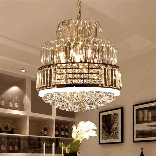 Crystal Restaurant Electroplating Modern Simple Chandelier