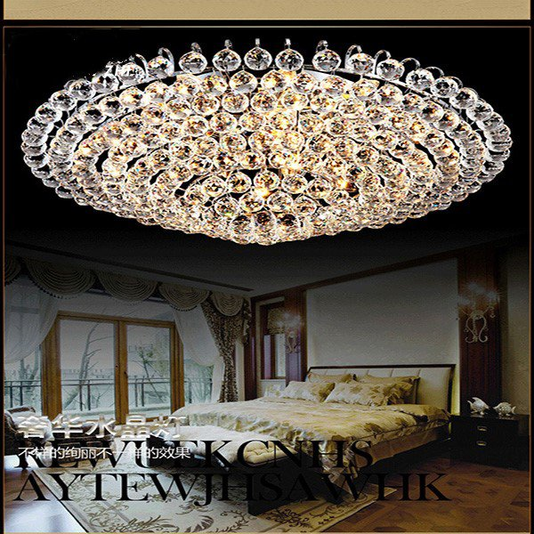 Iron Art,Glass,Crystal Study Room/ Bedroom,Living Room Electroplating Modern Simple Ceiling Lamp