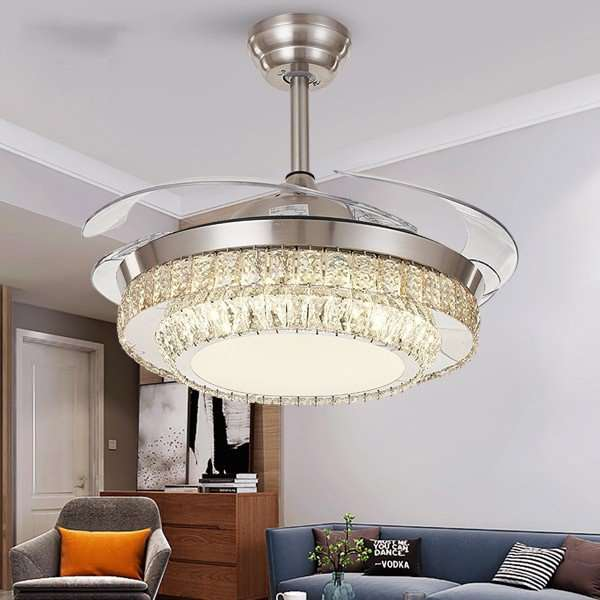 Iron Art,Crystal,Acrylic Living Room,Study/ Bedroom,Restaurant Plated European Fan Light,1 Lights