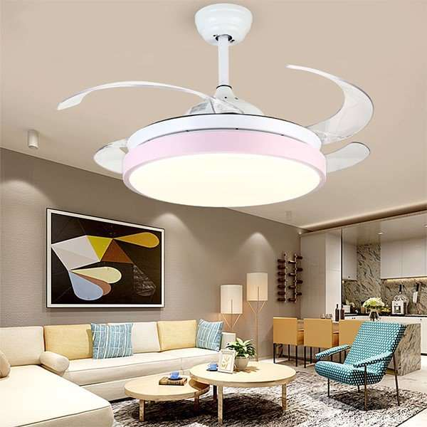 Acrylic,PC Living Room,Study/ Bedroom,Restaurant Plated Modern Minimalist Fan Light,1 Lights