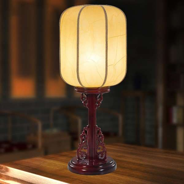 Solid Wood,Imitation Sheepskin Children's Room,Study/ Bedroom,Living Room Spray Paint Frosted Chinese Table Lamp