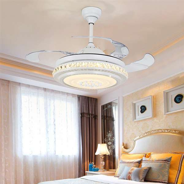 Iron Art,Crystal,Acrylic Restaurant,Living Room,Study/ Bedroom Modern Minimalist Fan Light,1 Lights