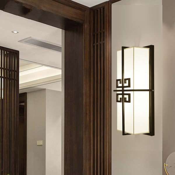 Iron Art,Cloth Living Room,Study/ Bedroom,Corridor/ Aisle/ Porch Spray Paint Frosted New Chinese Wall Lamp, Single Head