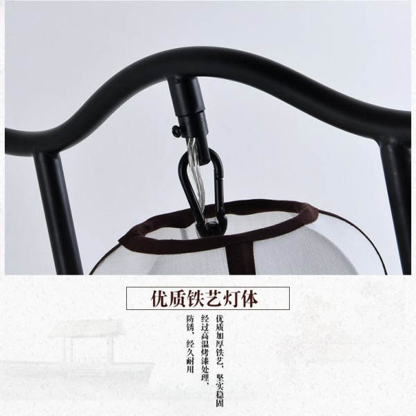 Iron Art,Cloth Living Room,Study/ Bedroom Hot Bend New Chinese Table Lamp