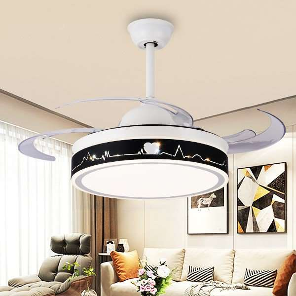 Iron Art,Acrylic,PS Living Room,Study/ Bedroom,Restaurant Modern Minimalist Fan Light,1 Lights