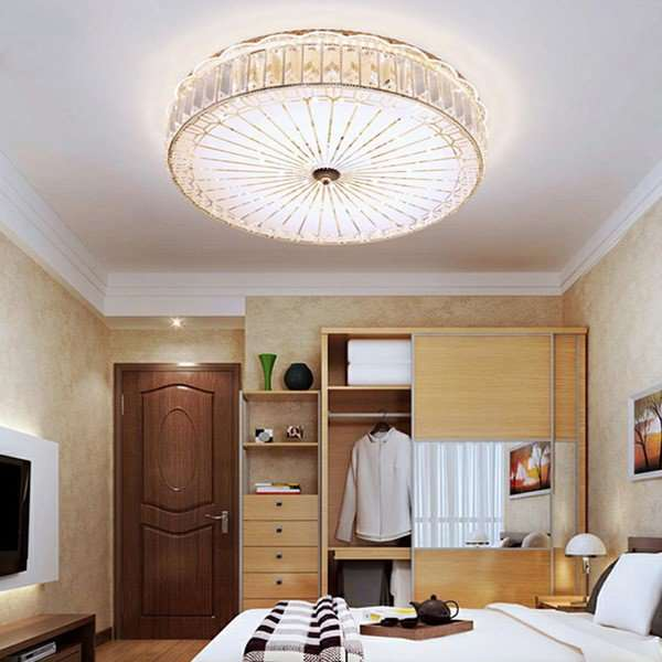 Iron Art,Glass,Crystal Restaurant,Study/ Bedroom Carved European Ceiling Lamp