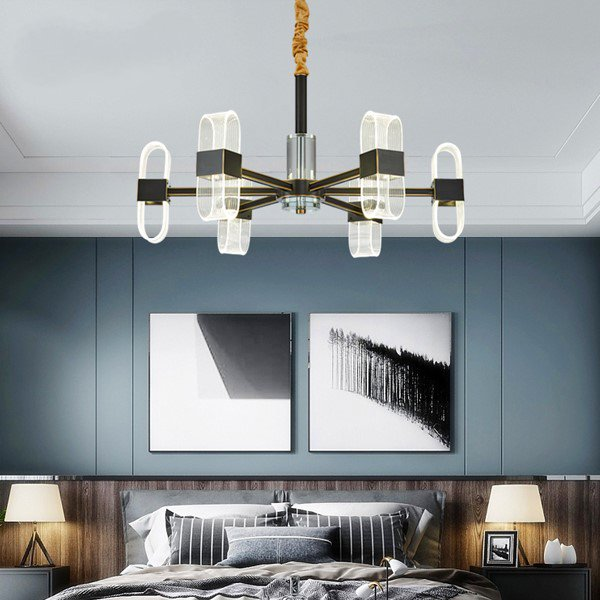 Acrylic,Copper Restaurant,Study/ Bedroom,Living Room Dyeing Modern Simple Chandelier,6 Lights