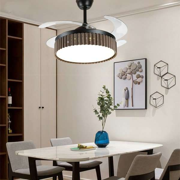 Iron Art,PC,Acrylic Restaurant,Study/ Bedroom,Living Room Modern Simple Fan Light,1 Lights