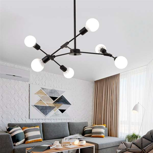 Iron Living Room,Study/ Bedroom,Restaurant Spray Sanding Art Personality Chandelier,3 Lights