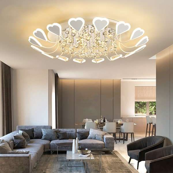 Iron Art,Crystal,Acrylic Living Room,Study/ Bedroom,Restaurant Spray Matte Modern Minimalist Ceiling Lamp