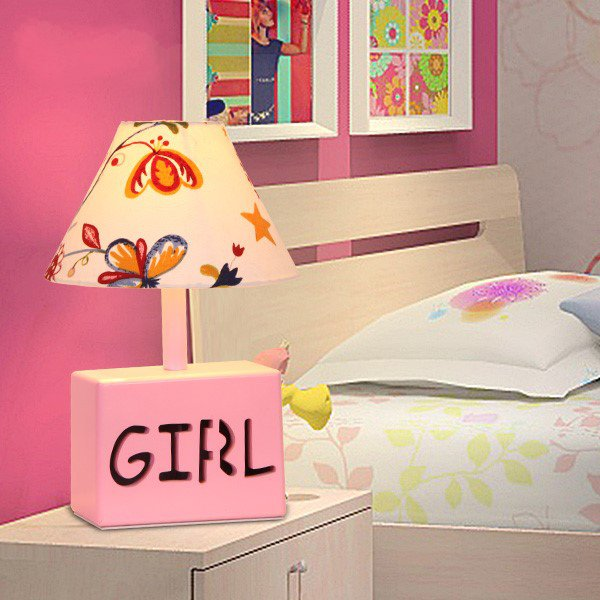 Wood Art,Cloth Children's Room Other/other Children/ Cartoon Table Lamp