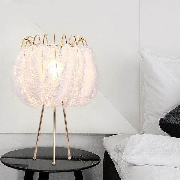Iron Art,Feather Study Room/ Bedroom,Restaurant Nordic\ IKEA Table Lamp