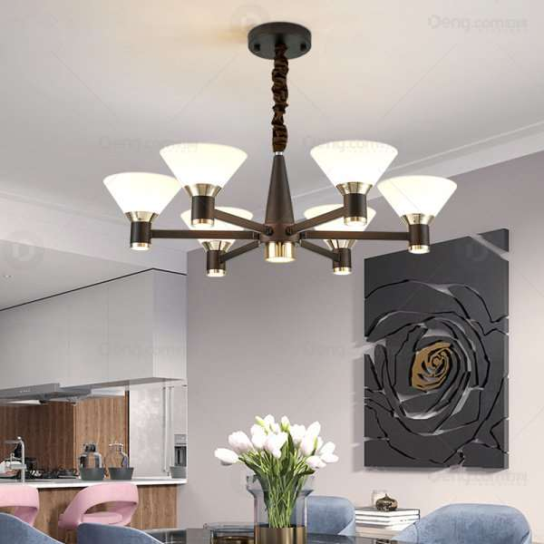 Aluminum,Iron Art,Acrylic Restaurant,Study/ Bedroom,Children's Room Dyeing Nordic\ IKEA Chandelier,6 Lights