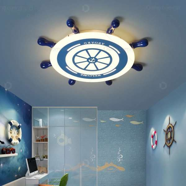 Iron Art,Cloth Art,Acrylic Study Room/ Bedroom,Children's Room Painting And Sanding Children/ Cartoon Ceiling Lamp