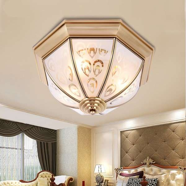 Glass,Copper Corridor/ Aisle/ Entrance,Balcony Solder European Ceiling Lamp