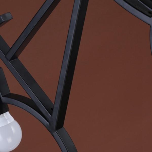 Iron Art Study Room/ Bedroom,Restaurant Paint Scrub Industrial Wind Chandelier,2 Lights