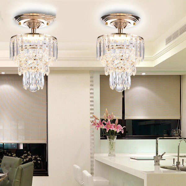Iron Art,Crystal Corridor/ Aisle/ Entrance,Cloakroom Plating European Aisle Lights