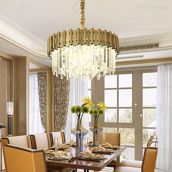 Crystal Restaurant,Study/ Bedroom Electroplated Postmodern Chandelier,8 Lights