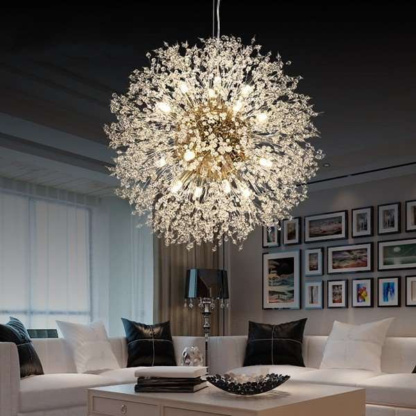 Iron Art,Crystal Living Room,Study/ Bedroom,Restaurant,Corridor/ Aisle/ Entrance,Balcony,Villa/ Electroplated Postmodern Chandelier In Hotel Lobby,1 Lights
