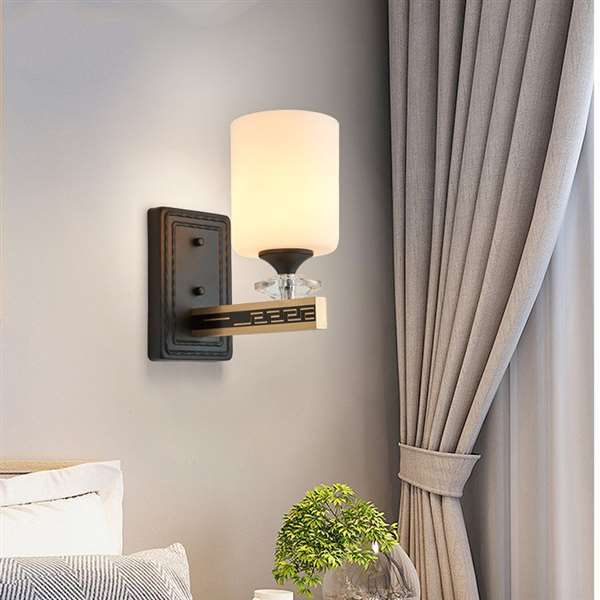 Aluminum,Iron Art,Glass Living Room,Study/ Bedroom,Corridor/ Aisle/ Porch Staining New Chinese Wall Lamp, Single Head