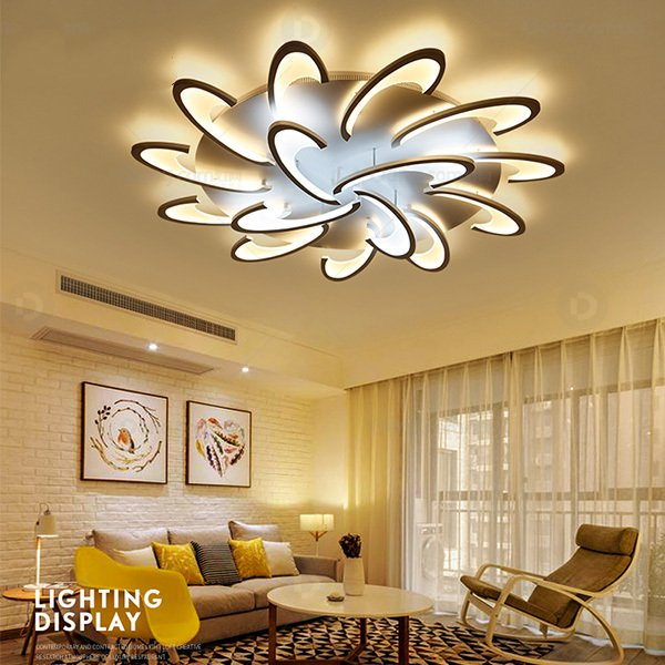 Acrylic,ABS Living Room,Chess Room/ Mahjong Hall Painted And Frosted Postmodern Ceiling Lamp