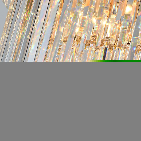 Iron Art,Crystal Stairs/ Corner,High Level/ Compound Electroplating Modern Simple Chandelier,20 Lights