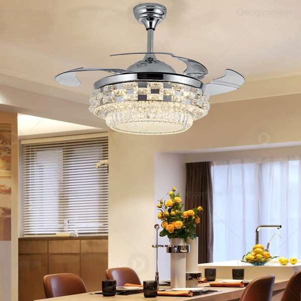 ABS,Iron Art,Crystal Living Room,Study/ Bedroom,Restaurant Modern Minimalist Fan Light,1 Lights