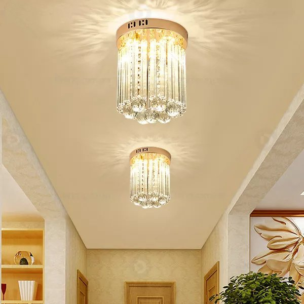 Iron Art,Crystal Corridor/ Aisle/ Entrance,Balcony Electroplating Modern Simple Ceiling Lamp