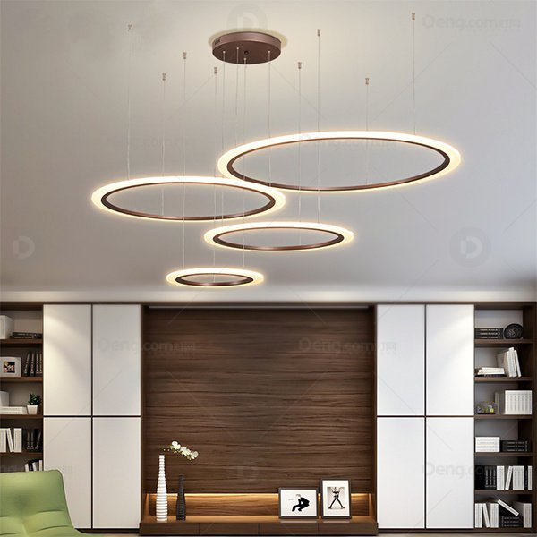 Aluminum,Acrylic High Rise/ Duplex,Restaurant,Living Room Spray Paint Frosted Modern Simple Chandelier,4 Lights