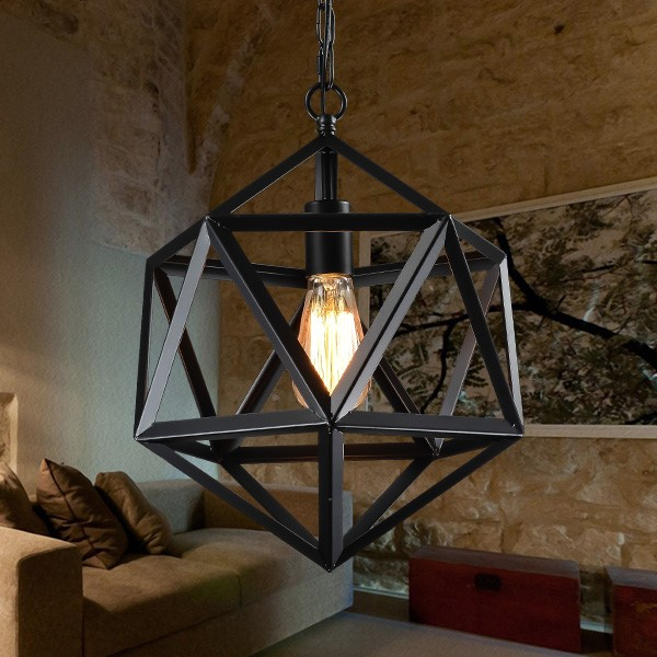 Iron Art,Glass Living Room,Restaurant Painted Frosted American Simple Chandelier,1 Lights