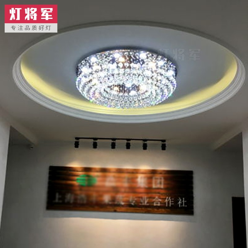 Crystal,Stainless Steel Living Room,Villa/ Modern Minimalist Ceiling Lamp Hanging In The Lobby Of The Hotel