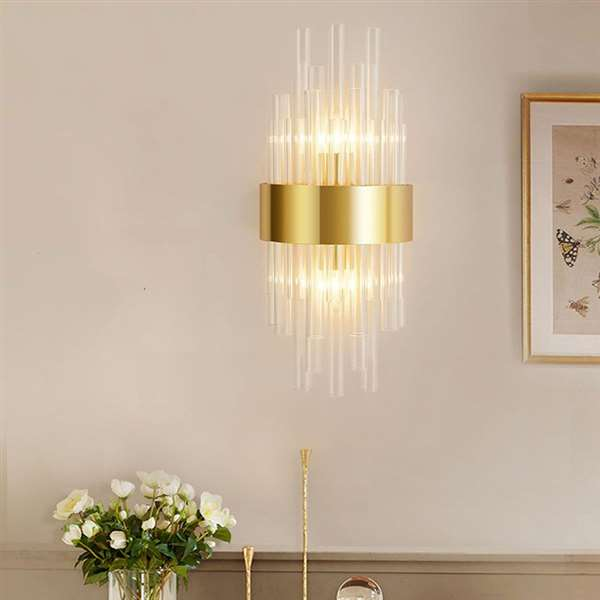 Glass,Stainless Steel Living Room,Corridor/ Aisle/ Entrance,Stairs/ Corner Light Luxury Wall Lamp, Single Head