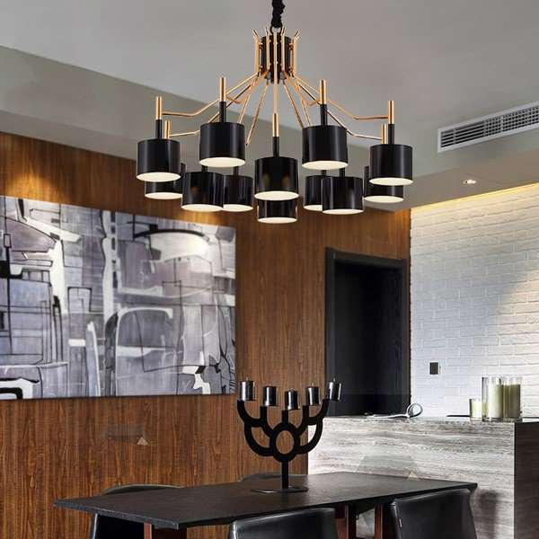 Iron Art,Acrylic Living Room,Study/ Bedroom,Electroplated Post Modern Chandelier In Dining Room,12 Lights