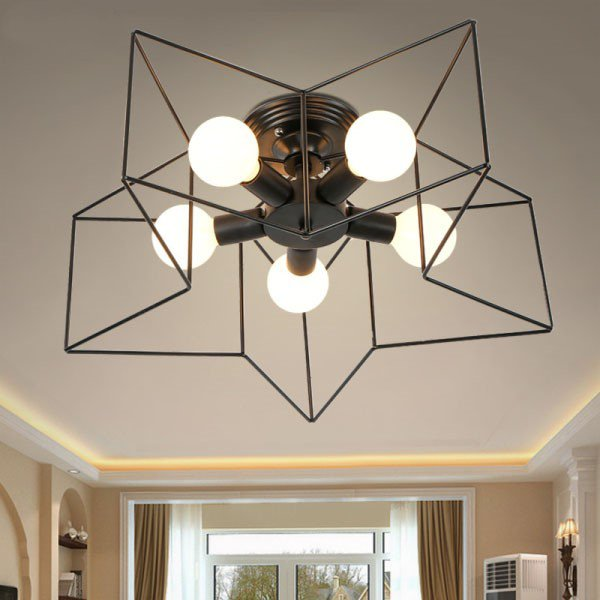 Iron Art Study Room/ Bedroom,Corridor/ Aisle/ Entrance Other/other Modern Minimalist Chandelier,5 Lights
