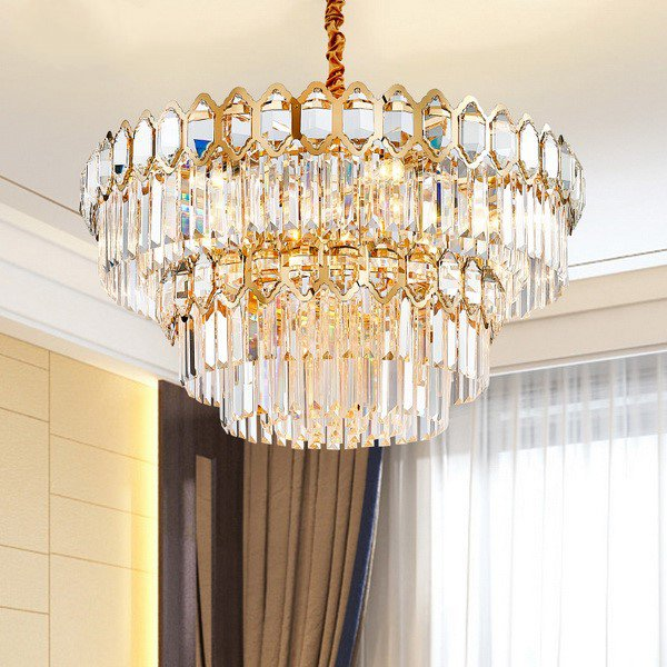 Crystal,Iron Art,Stainless Steel Restaurant,Study/ Bedroom,Other Gilded Postmodern Chandeliers,8 Lights