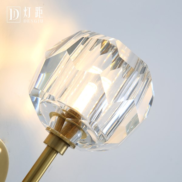 Crystal,Copper Corridor/ Aisle/ Entrance,Stairs/ Corner,Balcony Spray Paint Frosted Postmodern Wall Light, Single Head