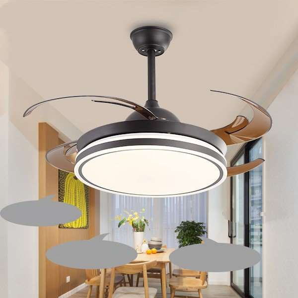 Iron Art,Acrylic Living Room,Restaurant,Study/ Bedroom Modern Minimalist Fan Light,1 Lights
