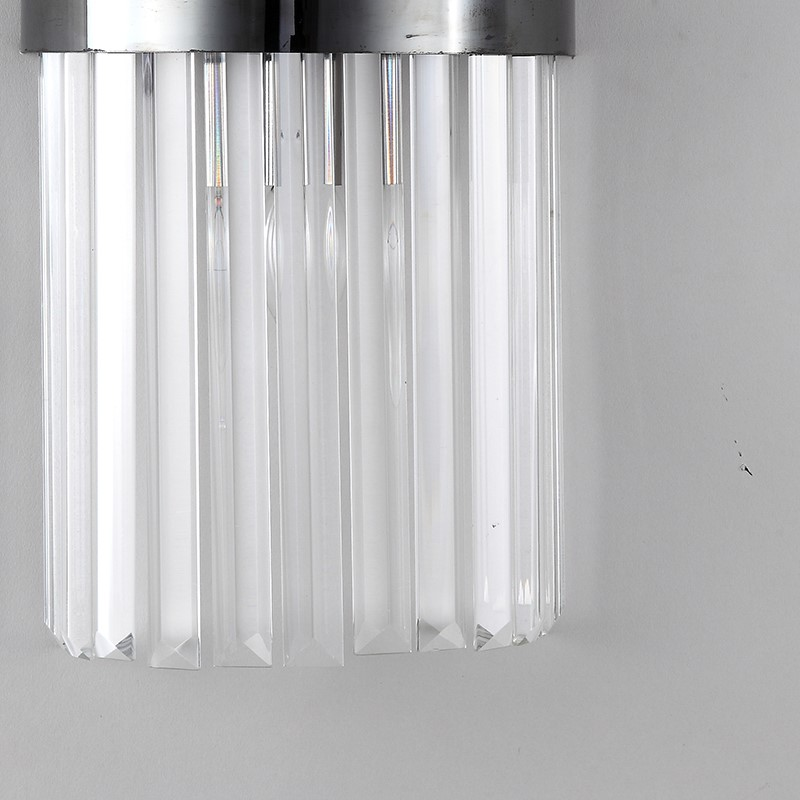 Crystal,Stainless Steel Living Room,Stairs/ Corner,Villa/ Electroplating Light Luxury Wall Lamp In Hotel Lobby, Single Head