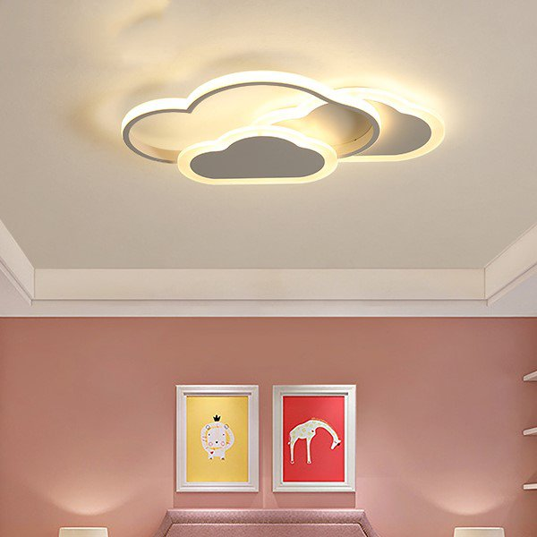 Iron Art,Acrylic,Aluminum Study Room/ Bedroom,Children's Room,Other Spray Painting And Frosting Modern Simple Ceiling Lamp