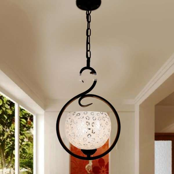 Iron Art,Glass Corridor/ Aisle/ Entrance,Balcony Other/other American Country Chandelier,1 Lights