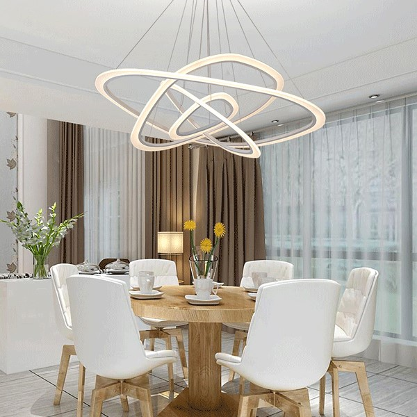Iron Living Room,Restaurant Painted Matte Modern Minimalist Chandelier,2 Lights