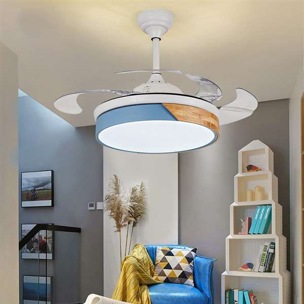 Iron Art,Wood Art,ABS Living Room,Study/ Bedroom,Restaurant Modern Minimalist Fan Light,1 Lights