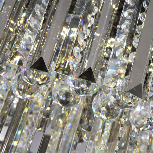 Crystal,Stainless Steel Villa/ The Hotel Lobby,Living Room Brushed Hanging Post Modern Ceiling Lamp