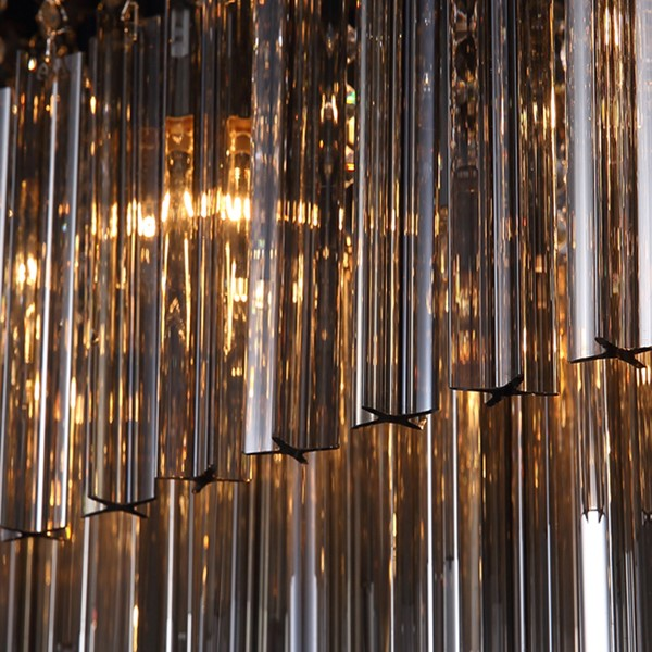 Glass,Crystal,Stainless Steel Restaurant Drawstring Hanging Post Modern Chandelier,10 Lights