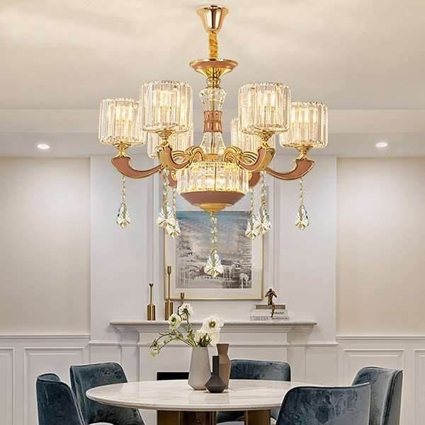 Crystal,Glass,Zinc Alloy Study Room/ Bedroom,Restaurant,High Level/ Compound Electroplating European Chandelier,6 Lights