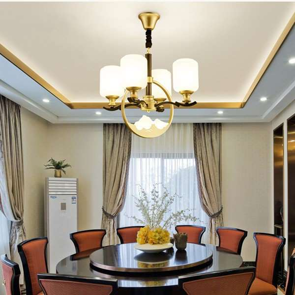 Iron Art,Glass,Acrylic Chess And Card Room/ Mahjong Museum,Restaurant,Study/ Bedroom Hot Bend New Chinese Chandelier,4 Lights
