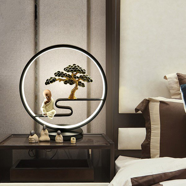 Aluminum,Iron Art,Zinc Alloy,Ceramic Living Room,Study/ Bedroom,Restaurant Painted Matte New Chinese Table Lamp